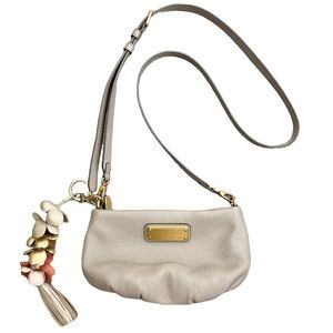 Marc by Marc Jacobs Crossbody Leather Purse Taupe